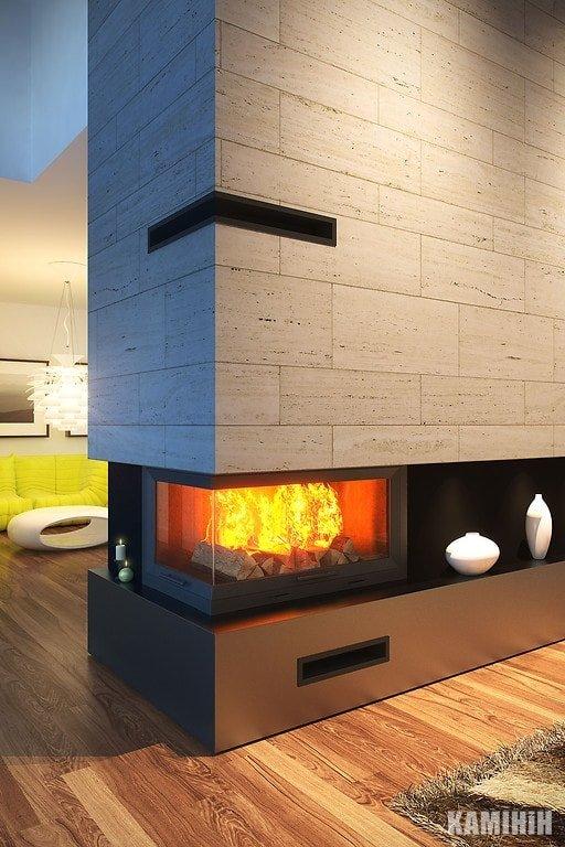 """Решітка вентиляційна для каміну """"V - OPEN-L"""" 500х700/100-P-ML кутова"""
