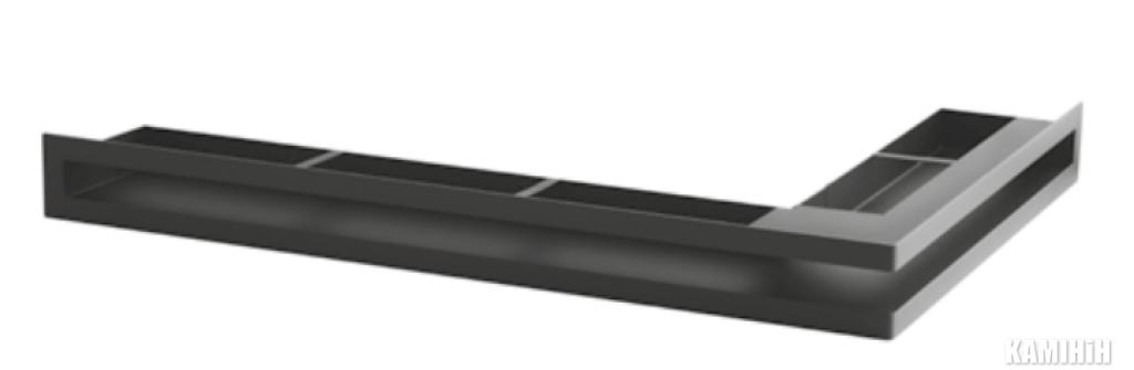 """Решітка вентиляційна для каміну """"V - OPEN-L"""" 700х500/100-L-ML кутова"""