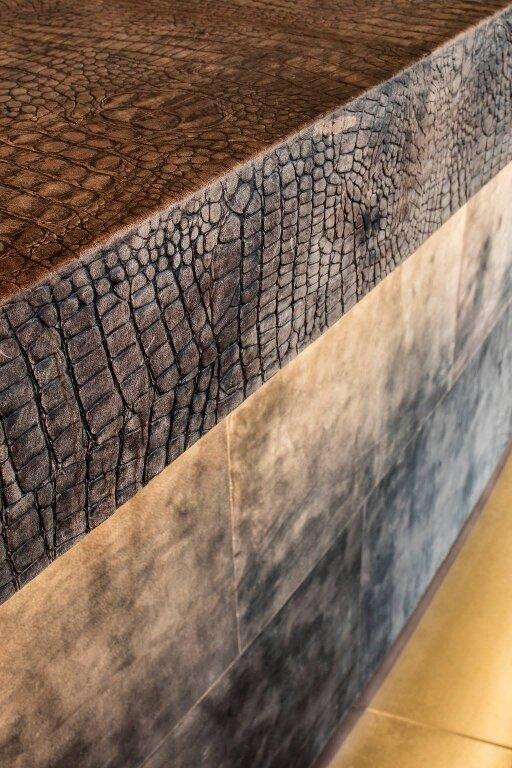 Шкіра для стін та підлоги KAIMAN TUNDRA – GREY