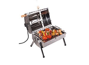 Electric grills and smokehouses