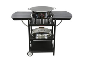 Gas grills and smokehouses