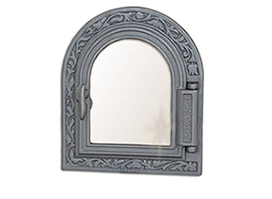 Oven cast iron doors