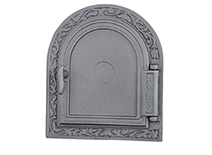Furnace cast iron door without glass